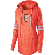 Ladies Hooded Low Key Pullover -Orange